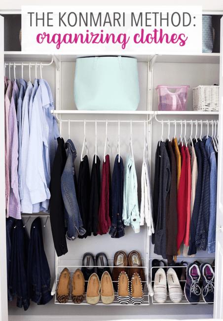 The KonMari method for organizing clothes.
