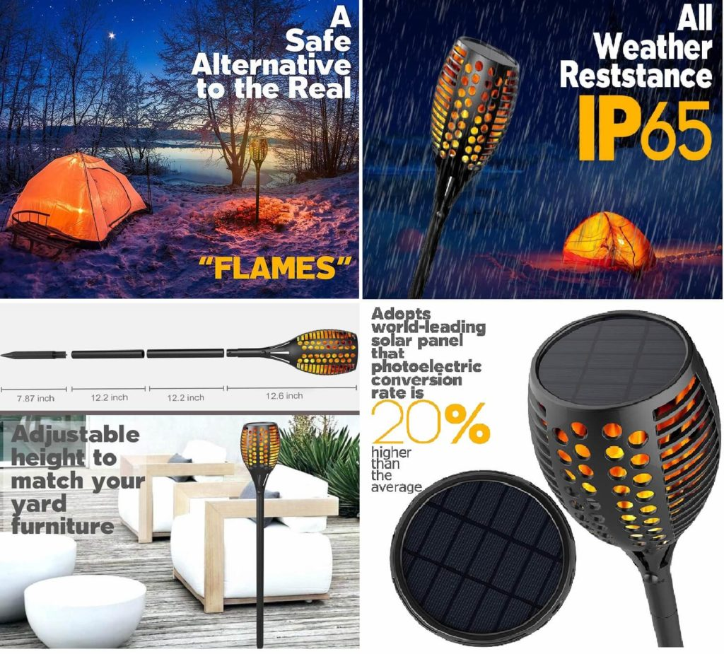 Solar-powered Flame Light cool gadget
