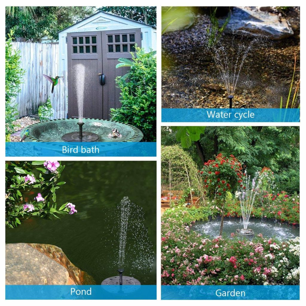 Solar-powered floating fountain cool gadget
