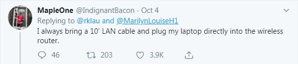 hotel room hack bring 10' cable