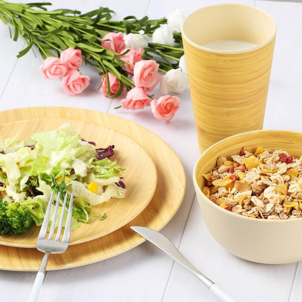 Bamboo Dinnerware lazy eco-friendly camping gift