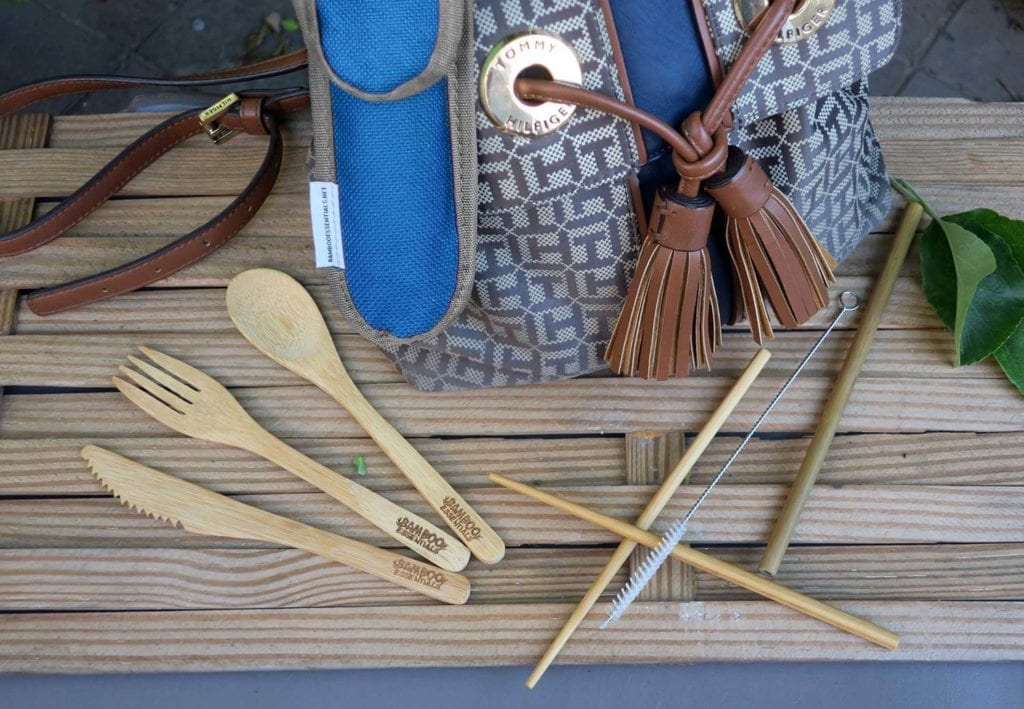 Bamboo utensils lazy eco-friendly camping gift