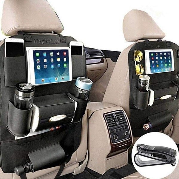 PALMOO Pu Leather Car Seat Back Organize is a cool gadget for road trip