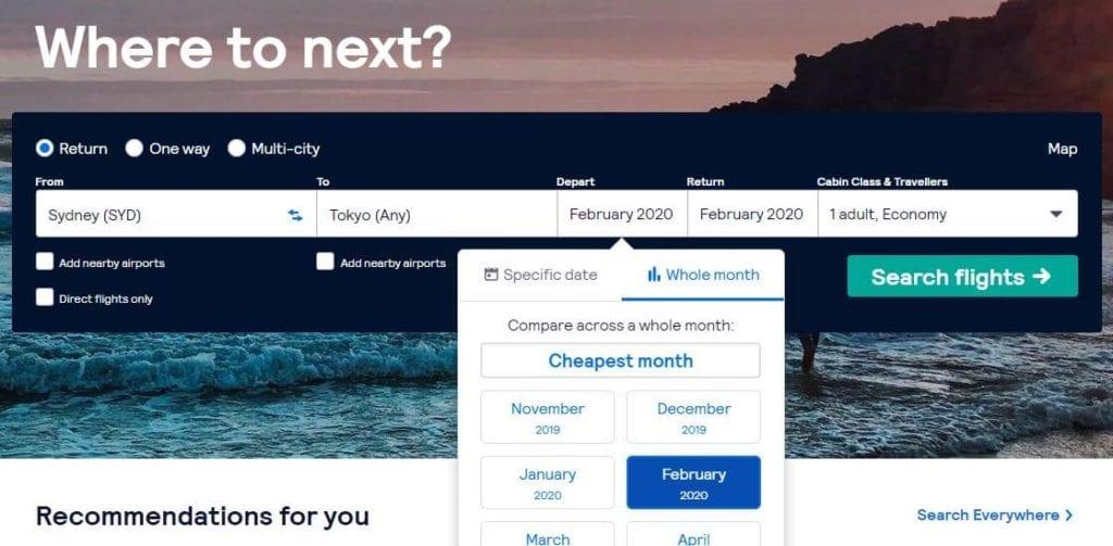 Nozawa Onsen travel tip skyscanner makes it easy to book flights