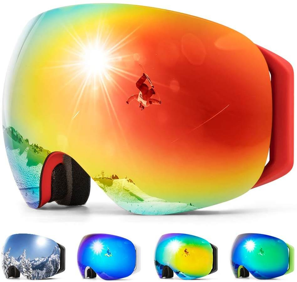 Gift ideas for skiers and snowboarder - check out these Copozz Goggles