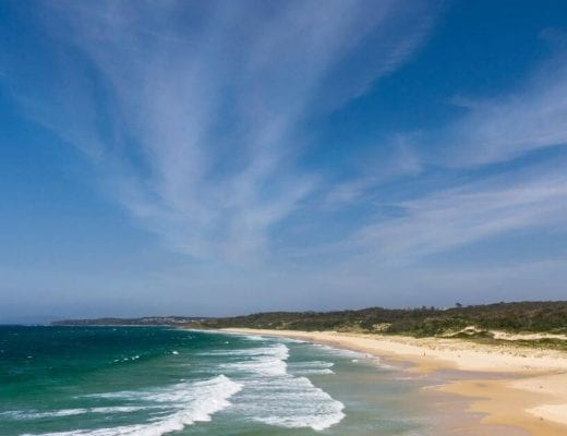 Mollymook beach at Ulladulla