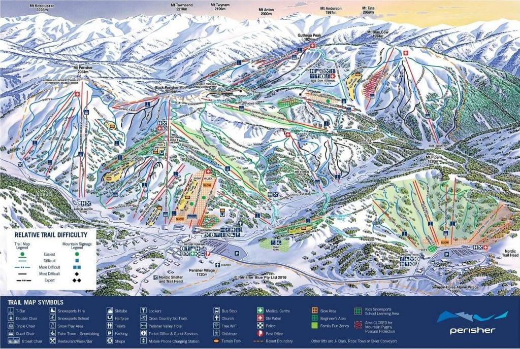 Perisher ski map to help plan your runs.