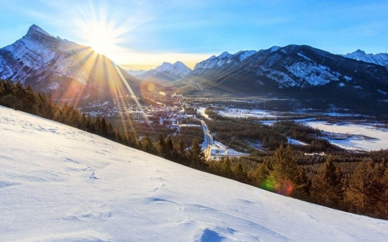 Snow trip to Banff