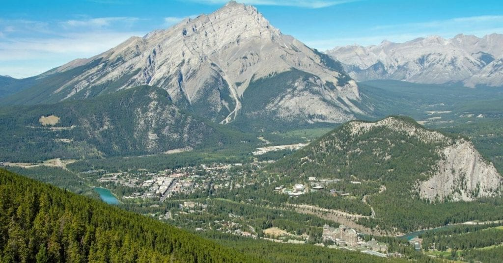 Stunning Banff with Mount Norquay in the background.